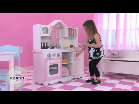 Kidkraft modern country kitchen youtube for Kidkraft modern country kitchen 53222