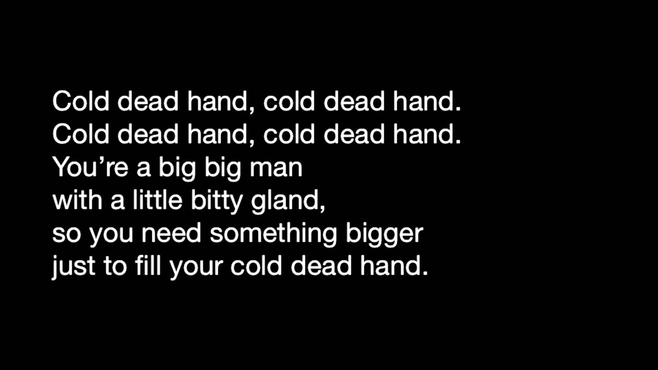 Jim Carrey – Cold dead hand Lyrics | Genius Lyrics