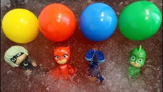 Pj Masks Slime Pool Balloons - Learn Colors with Pj Masks with Magic Liquids for Kids