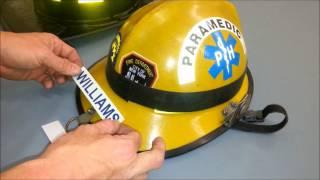 Custom Glow in the Dark Firefighter Fire Helmet Identifier decal by Sav-A-Jake International