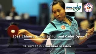2013 Chinese Taipei Junior & Cadet Open: Final Day - Morning Session