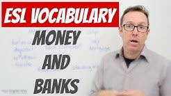 English lesson - Words to talk about MONEY and BANKS - palabras en ingls