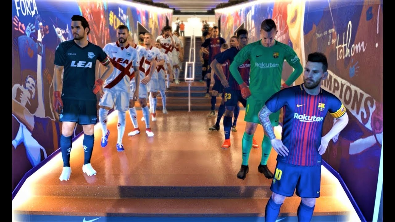 Barcelona Vs Alaves Messi 2 Goals Full Match 2018 Pes 2018