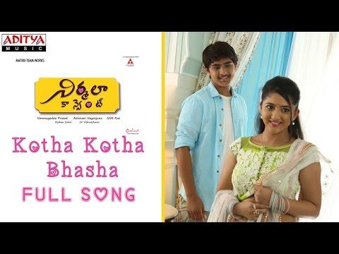 kottha Kotha Basha Full Song |Nirmala...