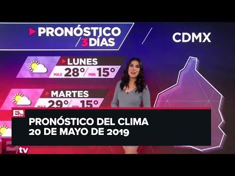 Clima para hoy 20 de mayo de 2019