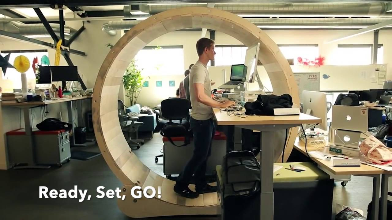Hamster Wheel Standing Desk Burn Calories Two Versions YouTube