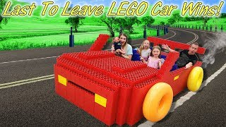 LAST to LEAVE Giant LEGO Race Car WINS Cute BABY Boy!!!