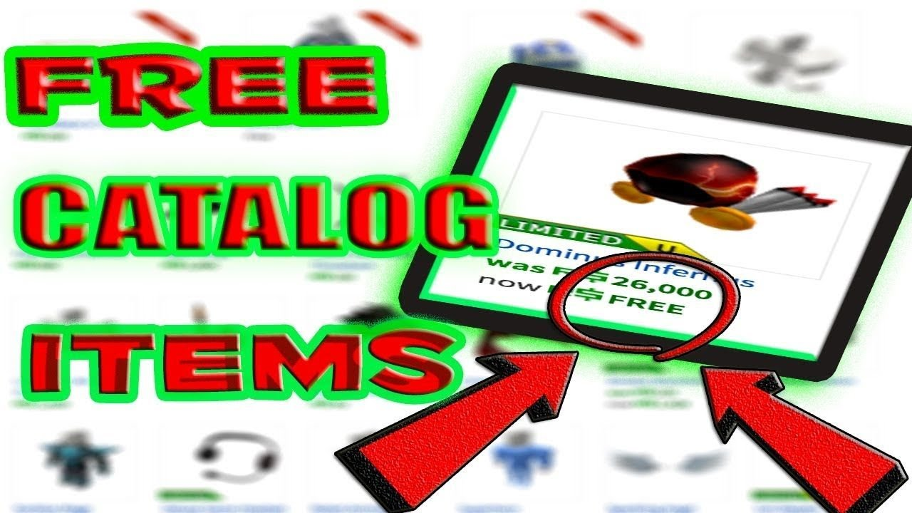 HOW TO GET FREE CATALOG ITEMS ON ROBLOX!! (WORKING 2019 ONLY) | FREE ITEMS  ON ROBLOX 2019!!