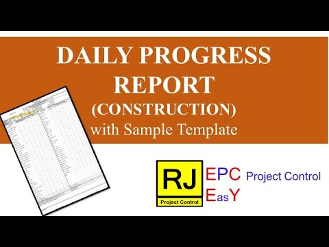 Daily Progress Report (Construction)