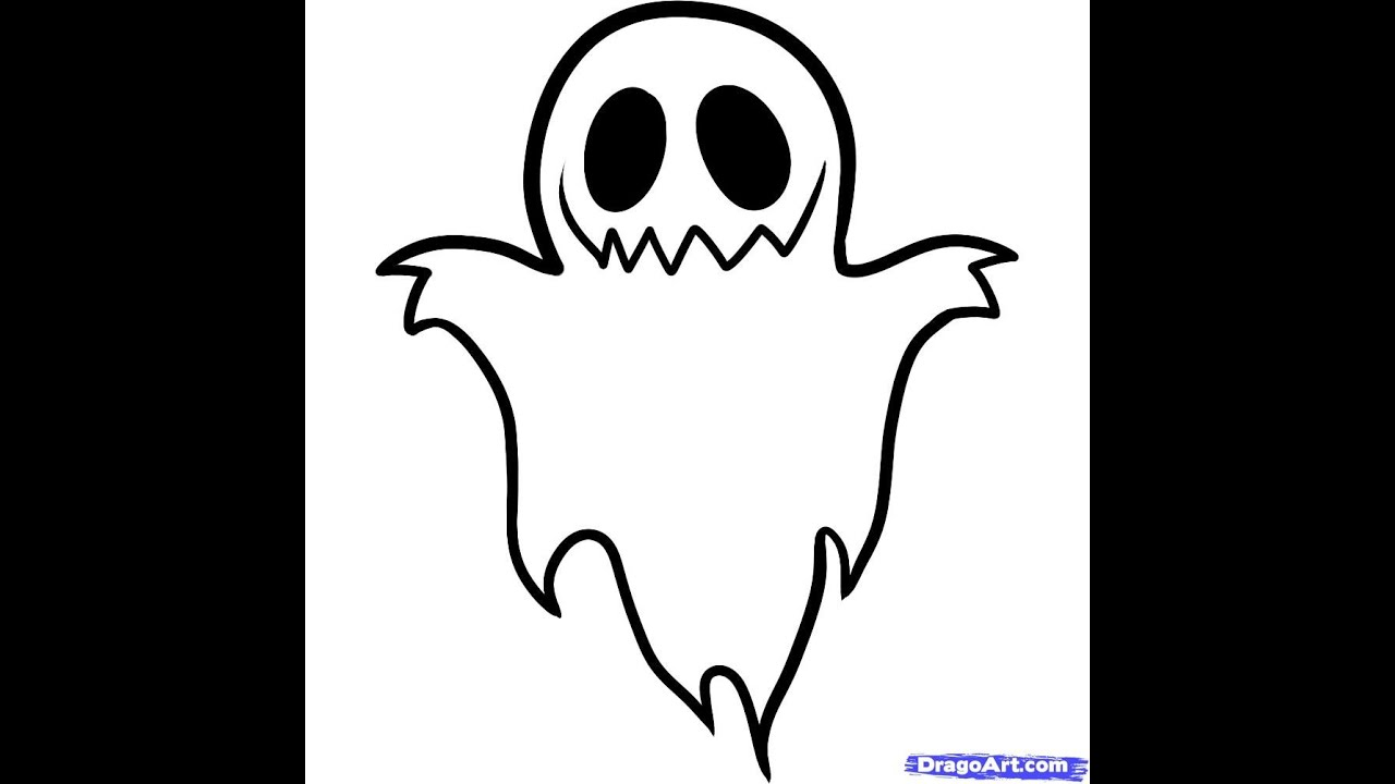 How to draw a ghost step by step youtube publicscrutiny Images