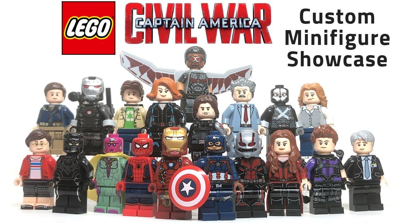 Marvel Captain Marvel CUSTOM Brick Minifigure COMPATIBLE Lego SKMI4