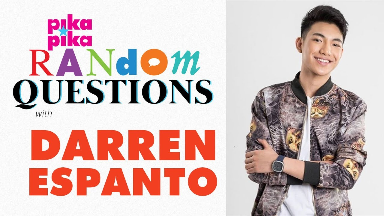 Singing heartthrob Darren Espanto sits down with pikapika.ph to answer our Random Questions