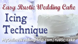 How to Create a Basic Rustic Wedding Cake Look With Buttercream Icing Thumbnail