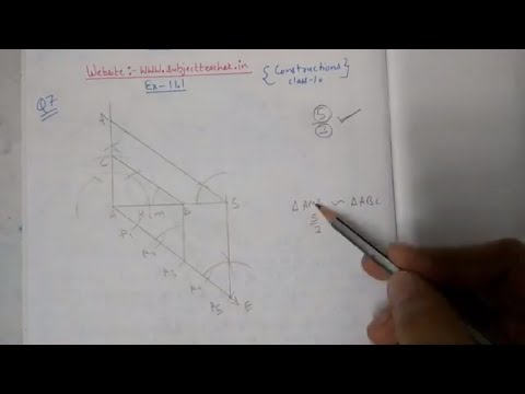Chapter 11 Exercise 11.1 (Q7) Constructions of Maths class 10 NCERT