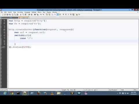3. Create Sample Static Website Using Node.js