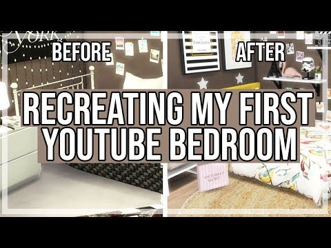The Sims 4: Room Build || Recreating My First Youtube Bedroom [Before&After Pictures]