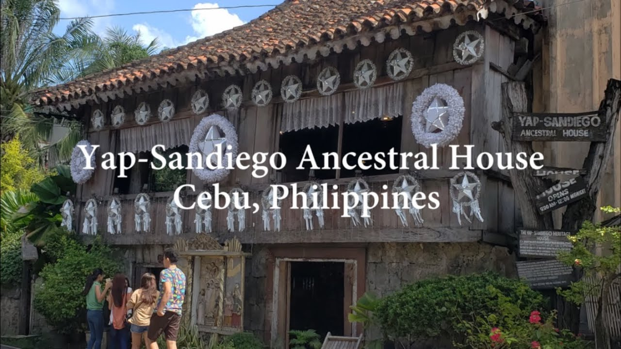 Yap Sandiego Ancestral House, Cebu - Philippines' oldest house with stunning carved furniture &