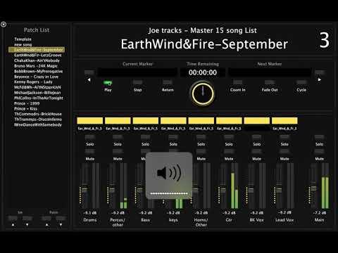 Mainstage 3 Live Band Backing tracks set overview and audio setup using Playback Multitrack