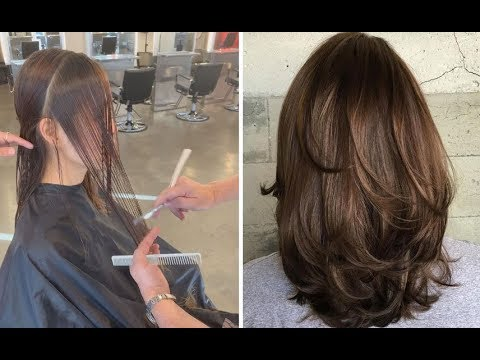 Medium Length Layered Haircut Tutorial Step By Step Medium Length Bob Hairstyles Youtube