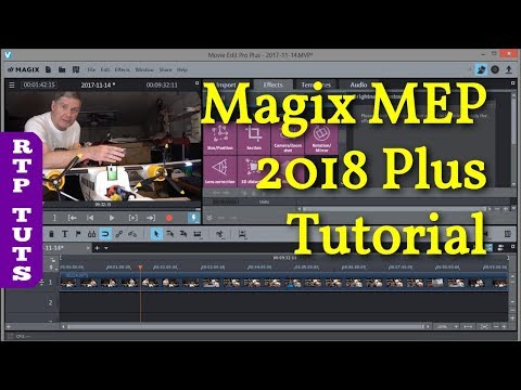 Magix Movie Edit Pro 2018 PLUS Beginner Tutorial - All Steps on How to Make YouTube Videos