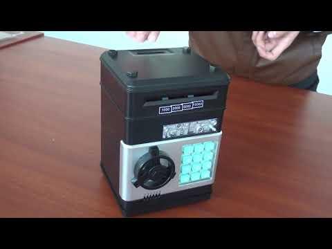 Electronic Piggy Bank ATM Password Money Box Cash Coins Saving