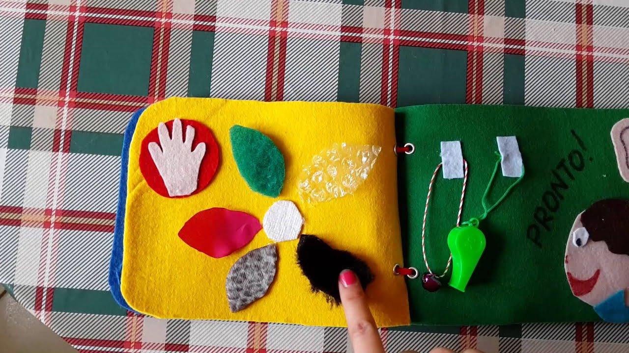 Top Quietbook sui 5 sensi libro sensoriale - YouTube KF04