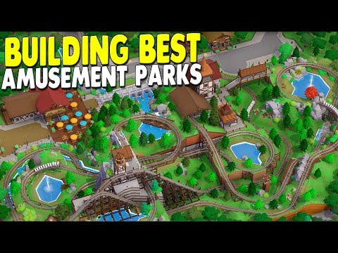 [LIVE?] BEST Building ALL NEW Roller Coasters, Amusement Parks & More - Parkitect Campaign Gameplay - 동영상