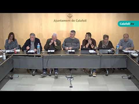 Ajuntament de Calafell: sessió plenària extraordinària, 18 d'abril de 2019