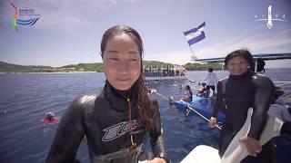 Roatan 2017 AIDA Freediving World Championship - Constant Weight No Fins Women highlights by Diveye