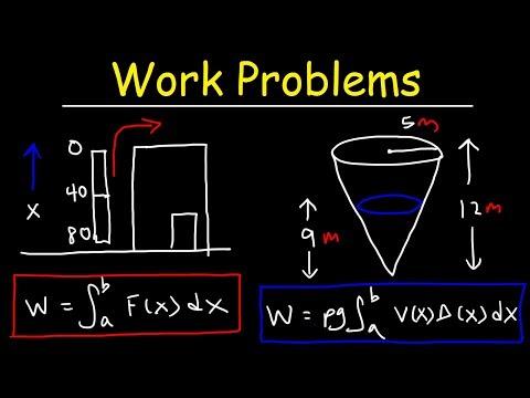 Work Problems - Calculus