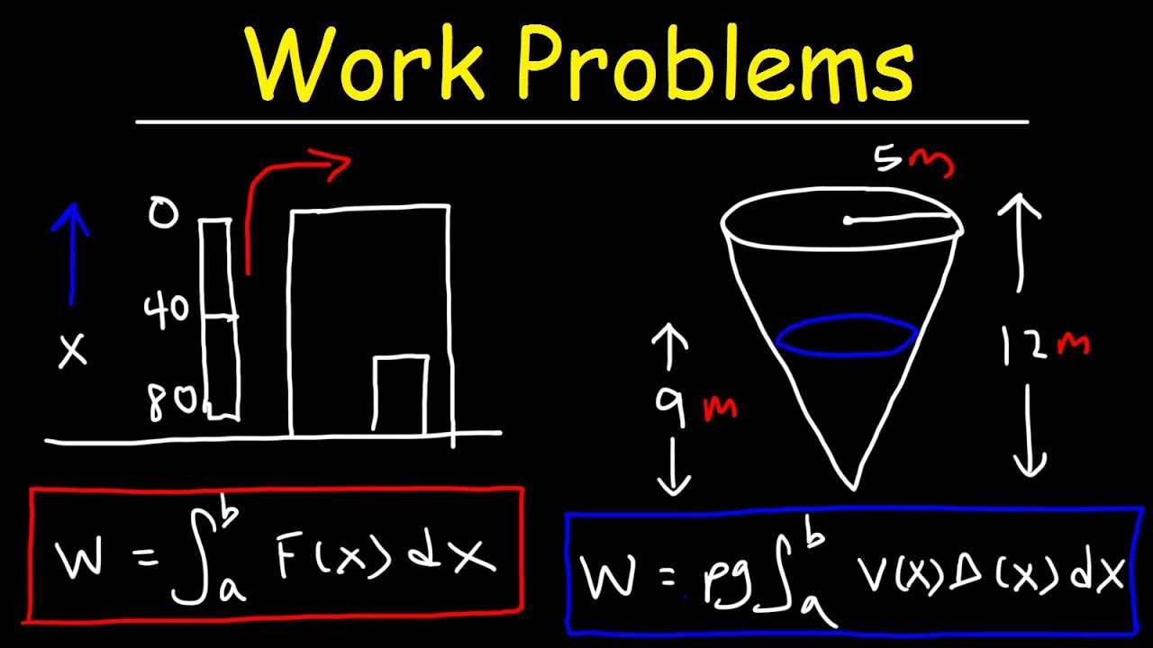 Work Problems - Calculus