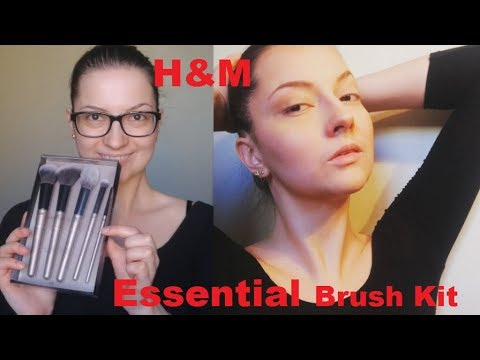 H&M Essential Brush Kit Review + Full face makeup using powders