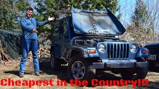 I Bought the Cheapest Jeep Wrangler TJ in the USA