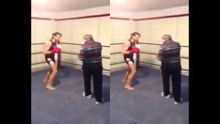 KICKBOXING - The battle between the Old Man and Boy
