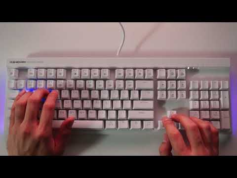 ABKO HACKER K640 PLUS 축교환 측면 LED 게이밍 키보드 (화이트, 청축)