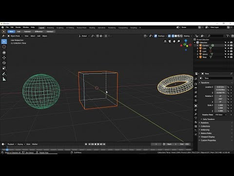 3D And Animation Blender 2.8- Part 6 Of 1- UNDO & REDO And Global & Local Orintation