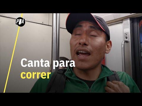 Atleta paralímpico canta en el metro para sobrevivir