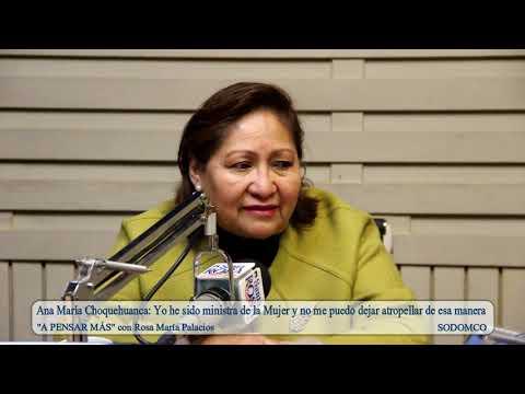 Ana María Choquehuanca: Yo he sido ministra de la Mujer y no me puedo dejar atropellar de esa manera