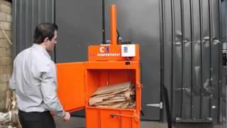 вертикальный пресс CK51. Прессование картона