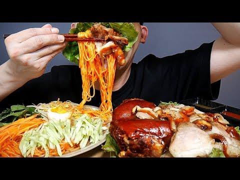 MUKBANG SNS에서 핫하다는 제주담은통족발과 순살족발 그리고 쫄면 요리 먹방 ASMR SOCIAL EATING SHOW