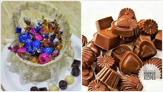 Homemade Chocolates with only 4 ingredients/ Diwali gift Homemade Chocolate Candies - Diwali Special