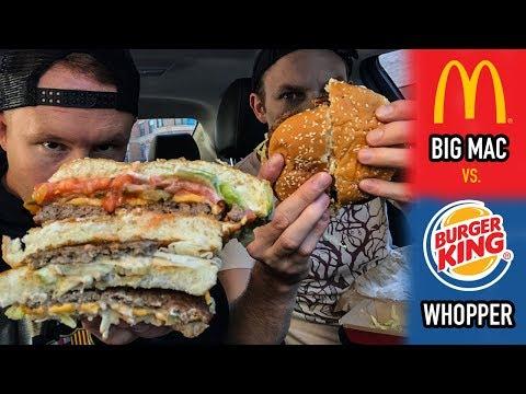 McDonald's Big Mac Vs. Burger King's Whopper   Fall 2017