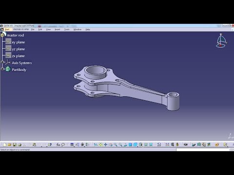 MASTER ROD IN RADIAL ENGINE ASSEMBLY PART-1  CATIA V5