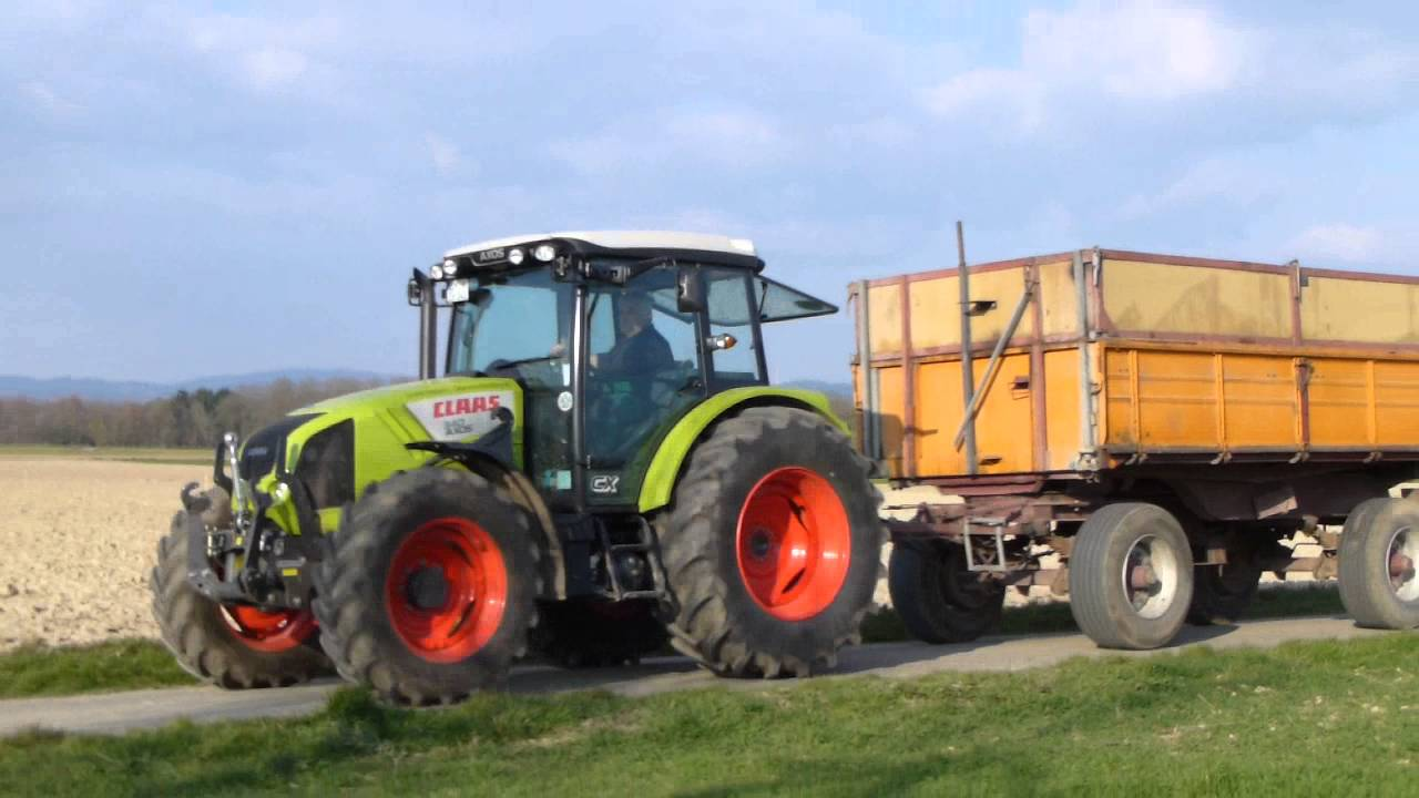 claas traktor mit anh nger youtube. Black Bedroom Furniture Sets. Home Design Ideas