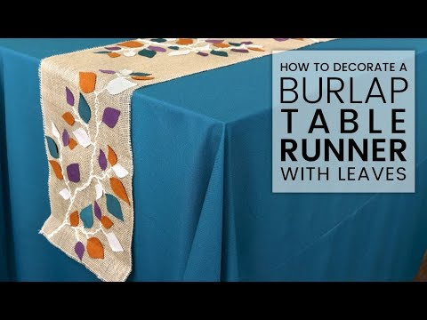 How to Decorate a Burlap Table Runner