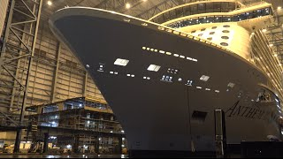4K Video | Highlights ANTHEM OF THE SEAS float out at Meyer Werft Shipyard