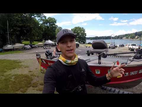 Fishing Lake Hopatcong, NJ (Ft. Stephanie) BEATS HER PB