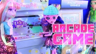 DIY - How to Make: Doll Arcade Game | WORKING Cell Phone Stand | Doll Crafts - 4K
