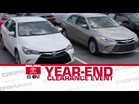 Year End Clearance Toyota