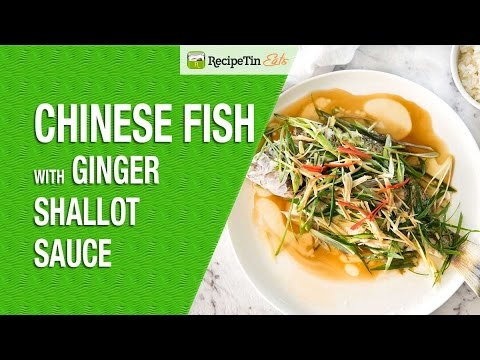 Chinese Fish With Ginger Shallot Sauce
